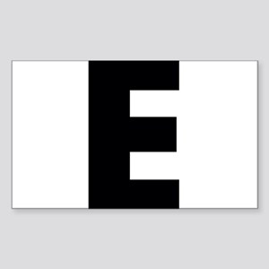 Letter E Sticker (Rectangle)