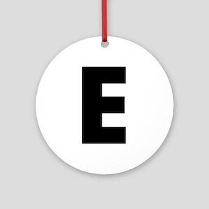 Letter E Ornament (Round)