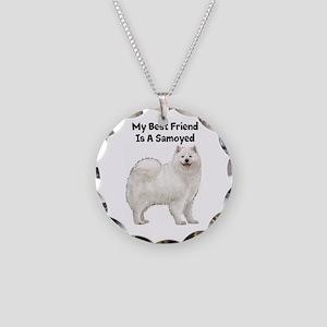 Samoyed Necklace Circle Charm