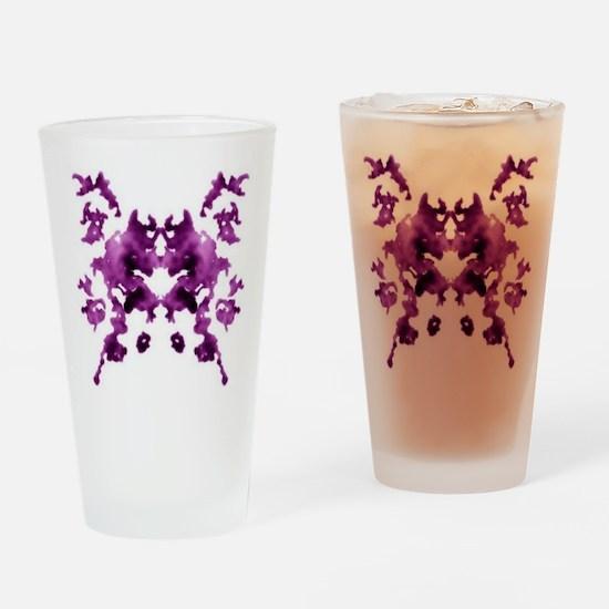Rorschach Inkblot Drinking Glass