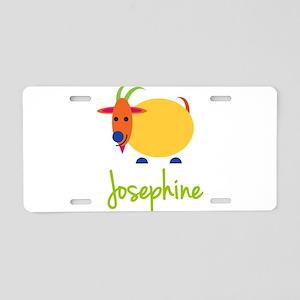Josephine The Capricorn Goat Aluminum License Plat