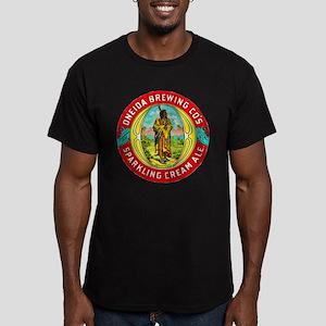 New York Beer Label 1 Men's Fitted T-Shirt (dark)