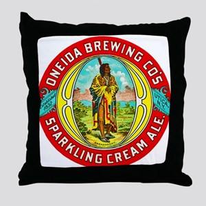 New York Beer Label 1 Throw Pillow