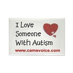 Rectangle Magnet; I Love Someone with Autism