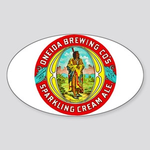 New York Beer Label 1 Sticker (Oval)