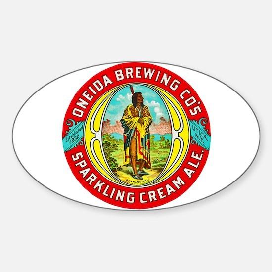 New York Beer Label 1 Sticker (Oval)