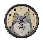 Finnish Lapphund Large Wall Clock