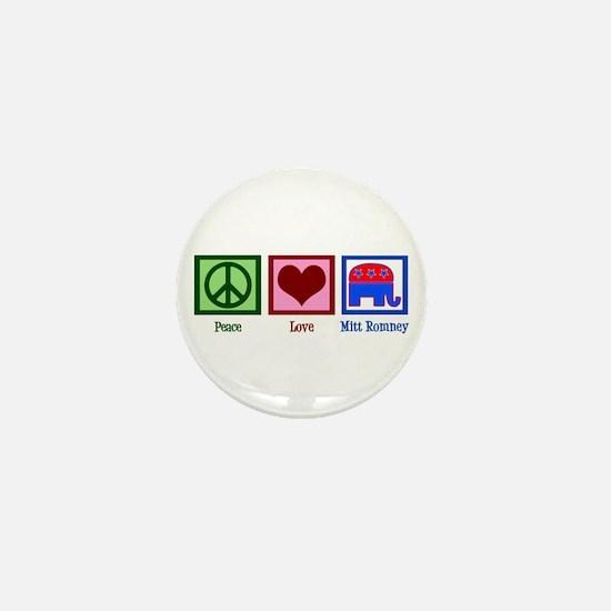 Peace Love Mitt Romney Mini Button