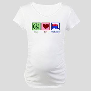 Peace Love Mitt Romney Maternity T-Shirt