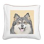 Finnish Lapphund Square Canvas Pillow