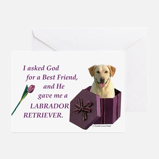 Labrador Retriever (Yellow) Greeting Cards (Packag