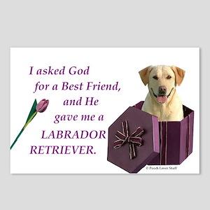 Labrador Retriever (Yellow) Postcards (Package of