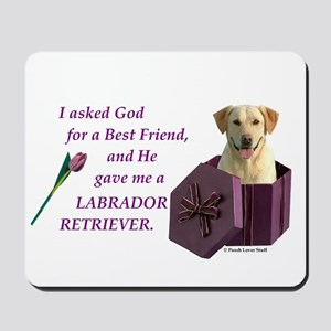 Labrador Retriever (Yellow) Mousepad