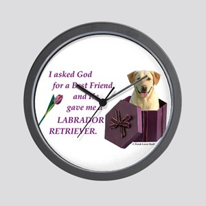Labrador Retriever (Yellow) Wall Clock