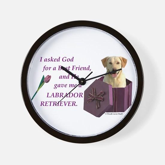 Labrador Retriever (Yellow) Wall Clock