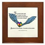 Autism is treatable & reversible; Framed Tile