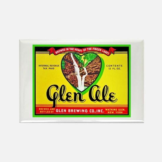 New York Beer Label 11 Rectangle Magnet