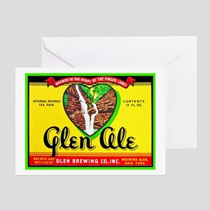 New York Beer Label 11 Greeting Card
