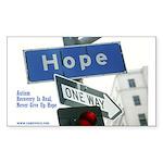 Rectangle Sticker; Autism Hope