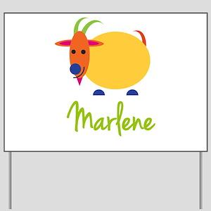 Marlene The Capricorn Goat Yard Sign