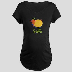 Stella The Capricorn Goat Maternity Dark T-Shirt