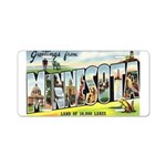 Greetings from Minnesota Aluminum License Plate