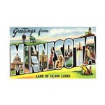 Greetings from Minnesota 35x21 Wall Decal