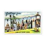 Greetings from Minnesota 20x12 Wall Decal