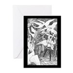 Ford's Six Swans Greeting Cards (Pk of 10)