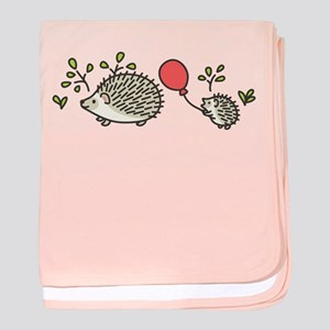 Baby Hedgehog's Red Balloon baby blanket