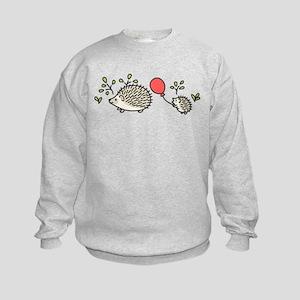 Baby Hedgehog's Red Balloon Kids Sweatshirt