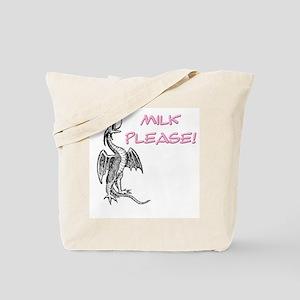 Milk Please! in Pink Tote Bag