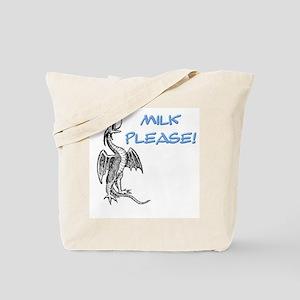 Milk Please! in Blue Tote Bag
