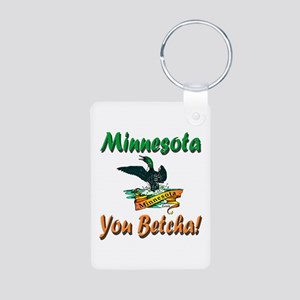 Minnesota You Betcha Aluminum Photo Keychain