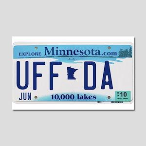 "Minnesota ""Uffda"" Car Magnet 20 x 12"