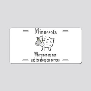 Minnesota Sheep Aluminum License Plate