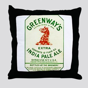 New York Beer Label 2 Throw Pillow
