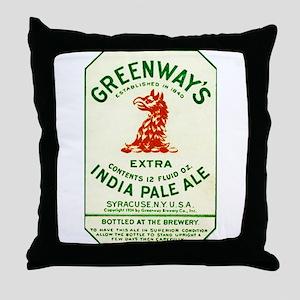 New York Beer Label 2 Throw Pillow