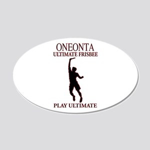 Oneonta Ultimate Frisbee 22x14 Oval Wall Peel