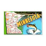 1940's Minnesota Map Car Magnet 20 x 12
