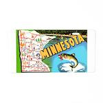 1940's Minnesota Map Aluminum License Plate