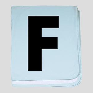 Letter F baby blanket