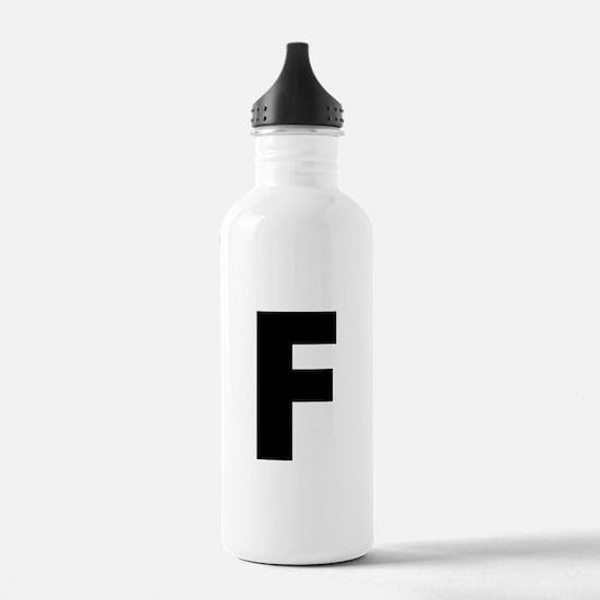 Letter F Water Bottle