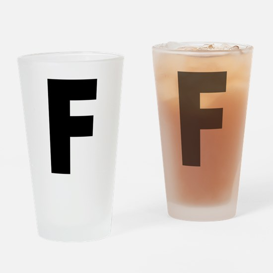 Letter F Drinking Glass