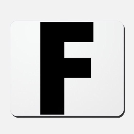 Letter F Mousepad