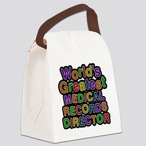 Worlds Greatest MEDICAL RECORDS DIRECTOR Canvas Lu