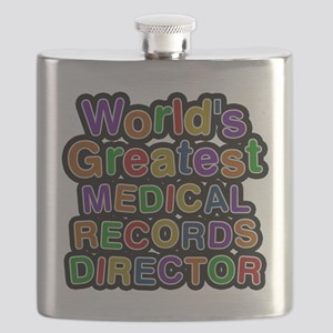 Worlds Greatest MEDICAL RECORDS DIRECTOR Flask