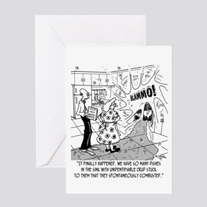Dishes Spontaneously Combust Greeting Card