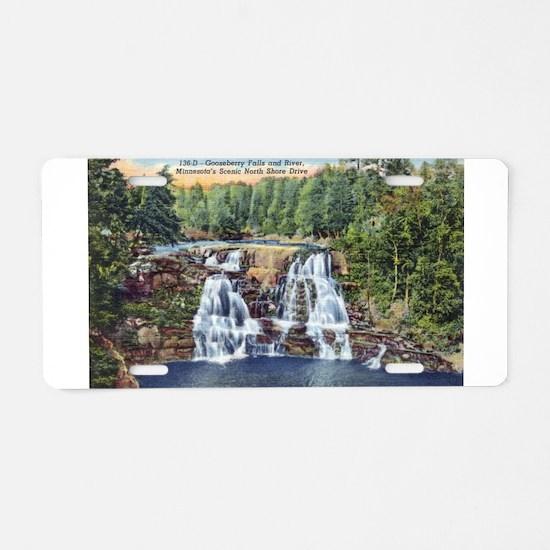 Gooseberry Falls Aluminum License Plate