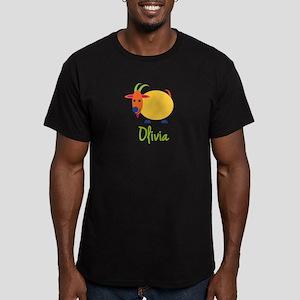 Olivia The Capricorn Goat Men's Fitted T-Shirt (da